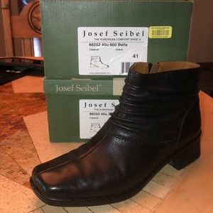 Josef Seibel Catania black boots 41